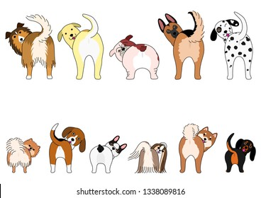 Bulldog Cartoon Illustration Outline Vector Images, Stock ...