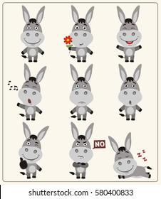 Donkey Emoticons Images, Stock Photos & Vectors | Shutterstock
