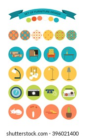 Set of furniture design.