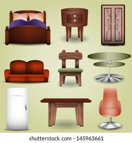 set of furniture icons can be used for website decoration, icon or holiday design
