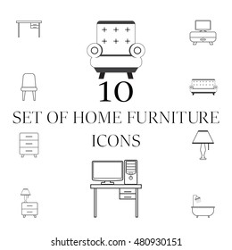 set of furniture vector icons