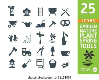Set of Garden icons, vector