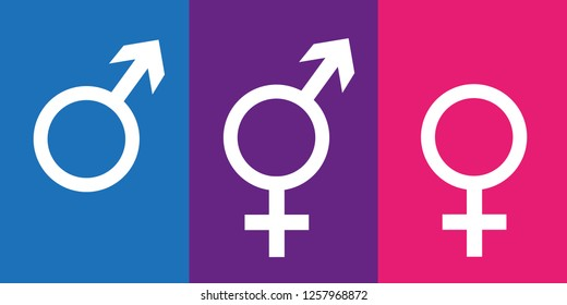 set of gender symbols including neutral icon vector illustration EPS10