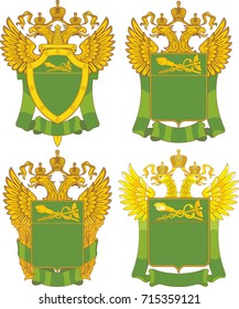 Set of generic templates for emblems of Russian Customs branches (2)