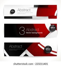 Set of geometric backgrounds for modern design