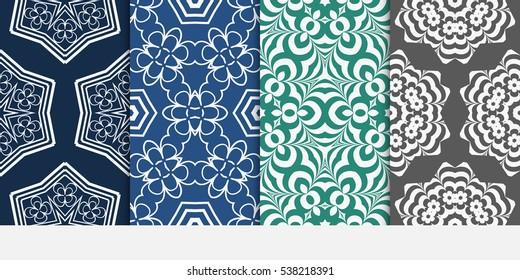 set of geometric modern ornament. seamless vector pattern. for wallpaper, invitation, fashion design