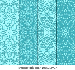 set of Geometric seamless pattern. Modern ornament. vector illustration. For the interior design, wallpaper, decoration print, fill pages, invitation card, cover book