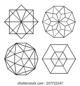 Set geometric shapes