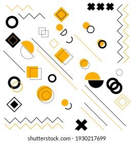 Set of geometric shapes. Good for memphis design, advertisement, poster, banner, poster, billboard, sale.