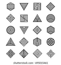 Set Of Geometry Shape Icon