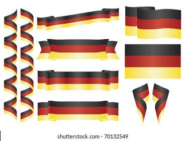 Set of german vector ornaments. Decorative elements
