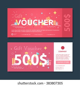 Set of gift voucher to women. Certificate diamond purchase in the value of the stores.