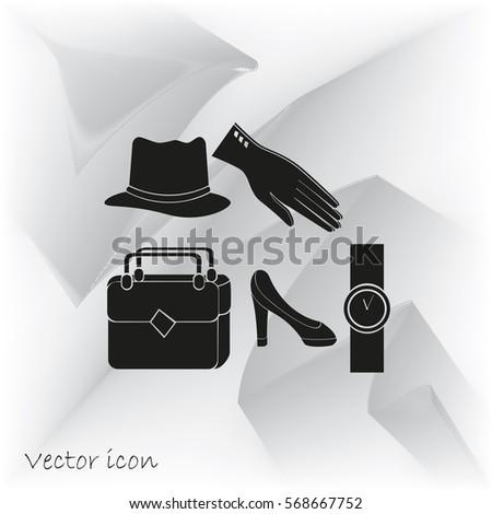 Stock vektory na téma Set Glamour Female Accessories (bez autorských ... 929880e702