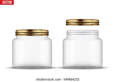 Glass Jars Canning Preserving Cover Without Stock Vector