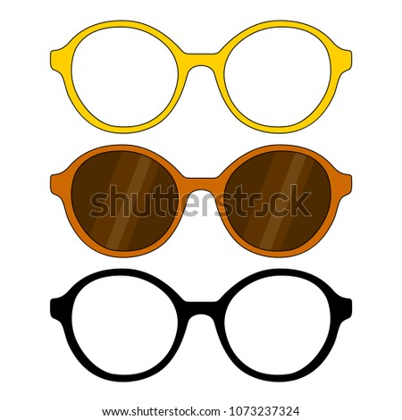 a44f22c765e Set Glasses Glasses Frames Round Form Stock Vector (Royalty Free ...