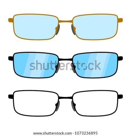 Set Glasses Glasses Frames Square Shape Stock Vector (Royalty Free ...