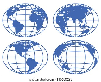 Set of the globe icons