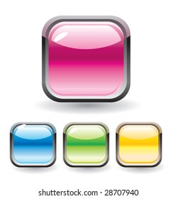 Set of glossy buttons for web design