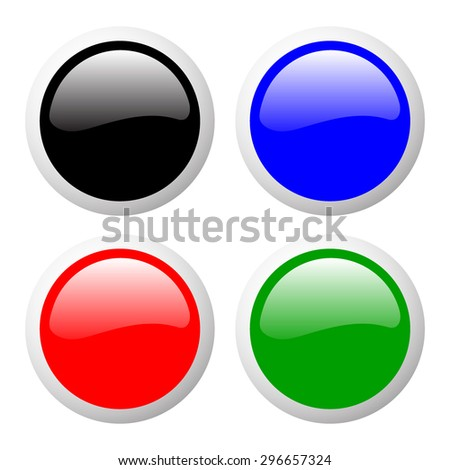 0867f3ef644 Set Glossy Colorful Web Buttons Round Stock Vector (Royalty Free ...