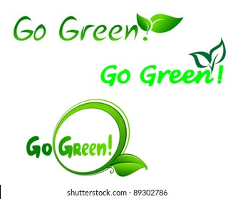 Set of go green symbols for ecology design, such a logo. Jpeg version also available in gallery
