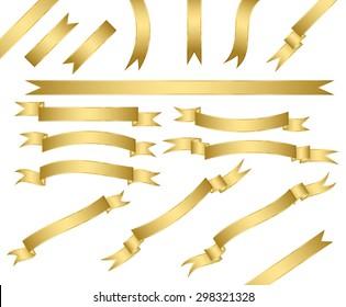 set of gold ribbons.vector