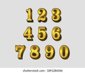 Set of golden 3d luxury numbers.