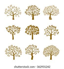 Set of golden vector trees.