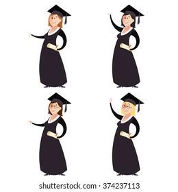 Set of graduted women