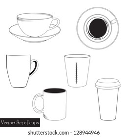 set of graphic cups