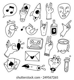 set of graphic decorative elements