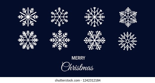 Set of graphic vector for element design  of snowflake for Christmas, happy new year and winter season decoration.