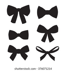 Set of graphical decorative bows.