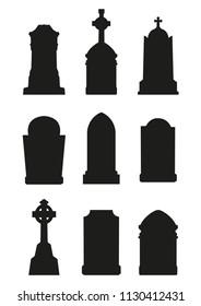 Set of gravestone