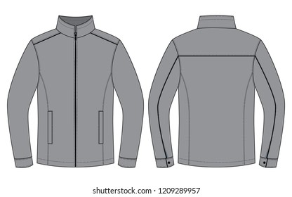 Set Gray Jacket for Template : Hidden Zipper