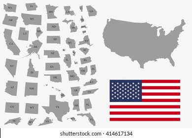 Usa Individual States Images, Stock Photos & Vectors ...