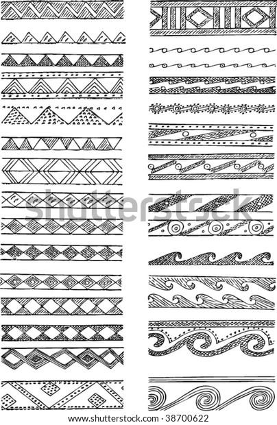 Set Greek Decorations Stock Vector (Royalty Free) 12