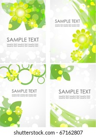 set of green backgrounds