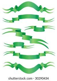 set green banners