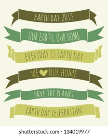 A set of green banners for Earth Day.