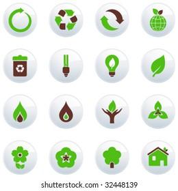 Set of green buttons.