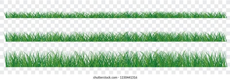 Set of green grass border transparent background vertor eps cmyk full color Wallpaper Banner poster Large set of fresh green spring grass borders in lengths and densities EK WK 2019 play model ball