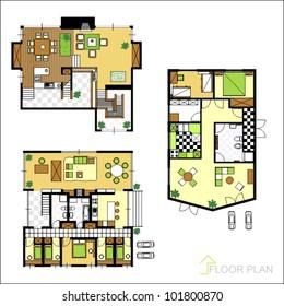 Set of ground floor blueprints