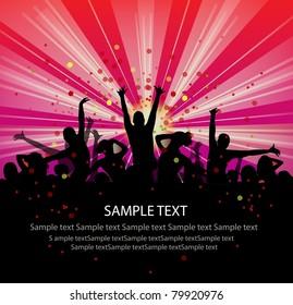 set of group peoples dance vector. flyer.vector
