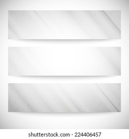 Set of grunge backgrounds, single color clear vector.