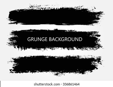 Set of grunge banners.Grunge backgrounds.Abstract vector template.