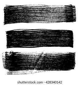 Set of grunge brush strokes, vector illustration