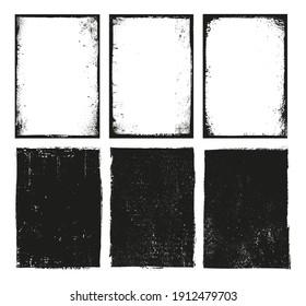 Set of grunge frame backgrounds.
