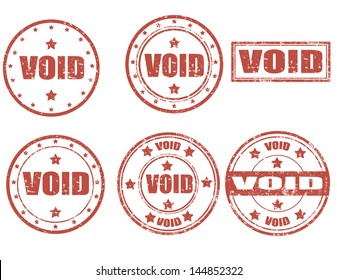Set of grunge rubber stamps with word Void inside,vector illustration