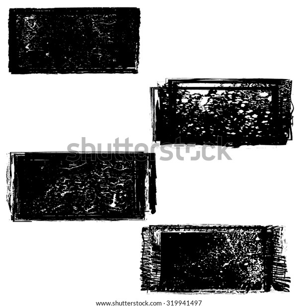 Set of Grunge Rubber Texture Stamp .  Vector Illustration .
