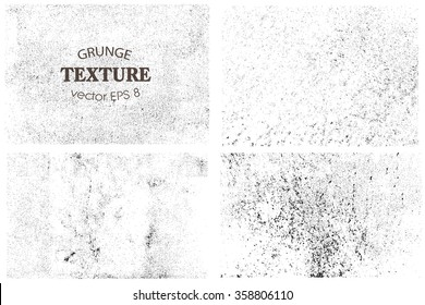 Set of grunge textures.Vector distress overlay textures.